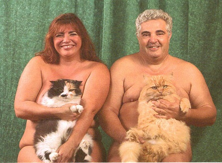 Naked with Cats pic