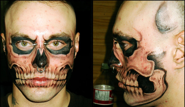 tattoo-face-skull wtf pic